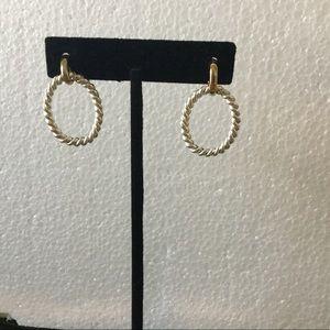 Jewelry - Silver/Gold tone pierced hoop earrings